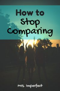 how to stop comparing