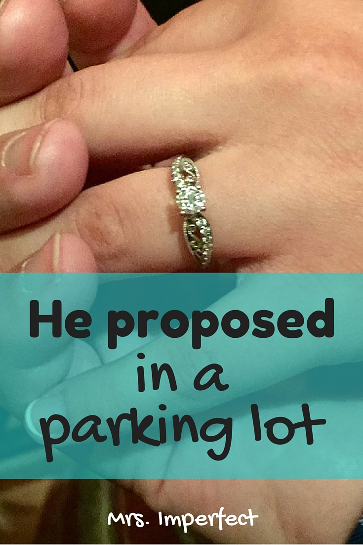 He Proposed in a Parking Lot