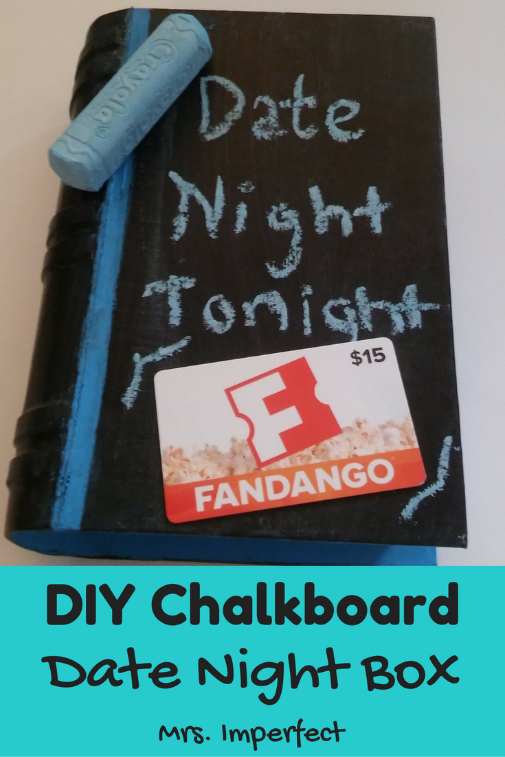 DIY Chalkboard Date Night Box