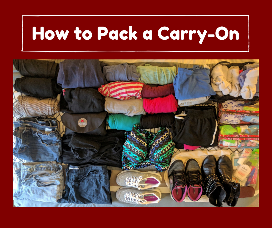 How to Pack a Carry-On for an Entire Trip